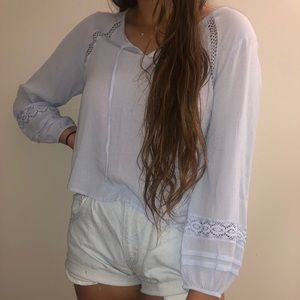 NWT light blue blouse